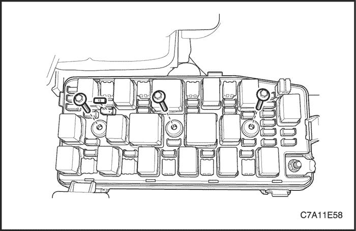 предохранителей двигателя