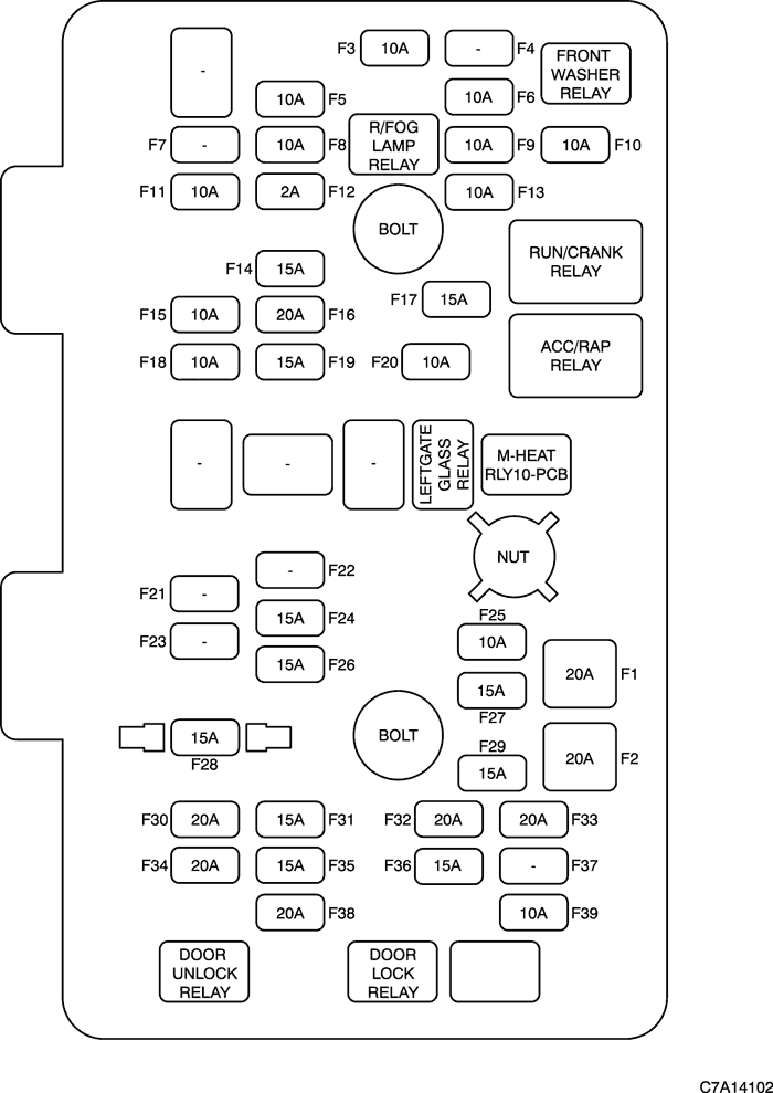 Схема предохранителей прикуриватель шевроле круз5