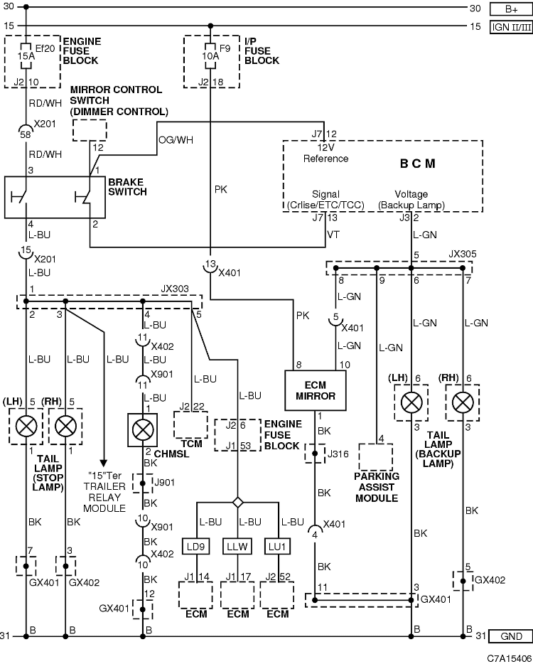 Rear light    wiring       diagram        Chevrolet    Owners Club Forum