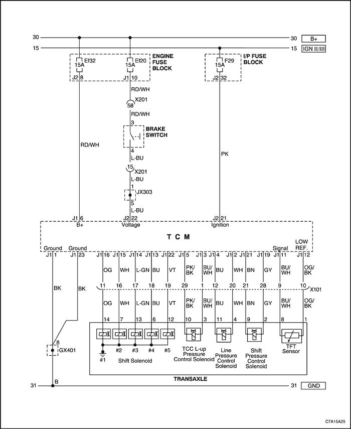 ПРИНЦИПИАЛЬНЫЕ СХЕМЫ.  Контроллер коробки передач (1 из 2). Контроллер коробки передач (2 из 2) .